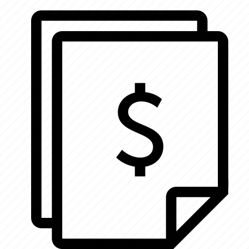 bill, invoice, receipt, sale, shopping icon