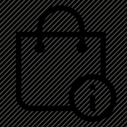 bag, info, market, shopping, store icon