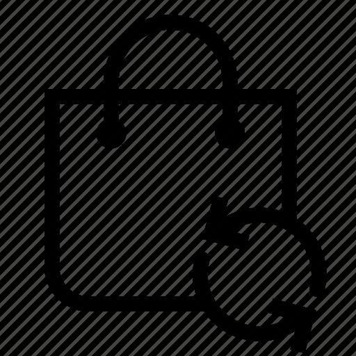 bag, market, shopping, store, sync icon