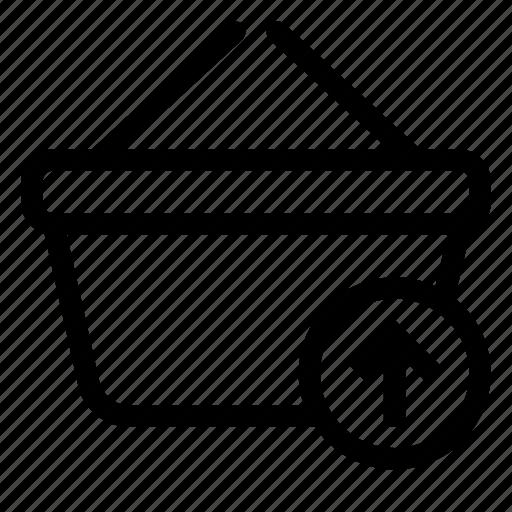 arrow, basket, market, shopping, store icon