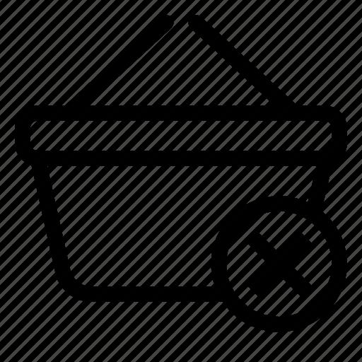basket, market, remove, shopping, store icon