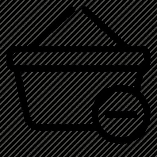 basket, delete, market, shopping, store icon
