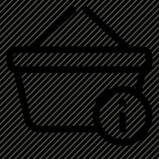 basket, info, market, shopping, store icon