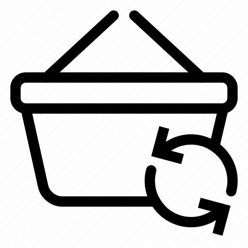 basket, market, shopping, store, sync icon