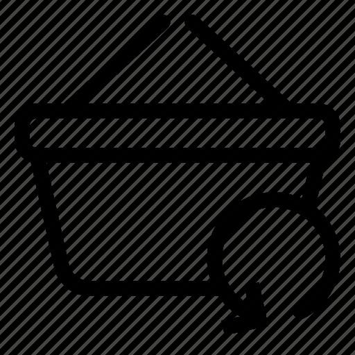 basket, market, refresh, shopping, store icon