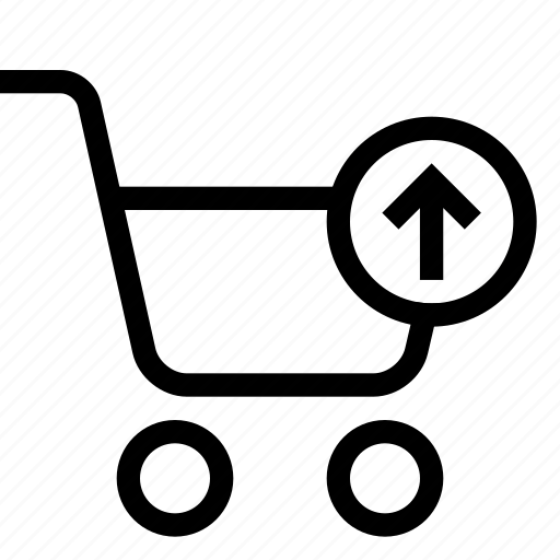 arrow, cart, shopping, strolley, supermarket icon