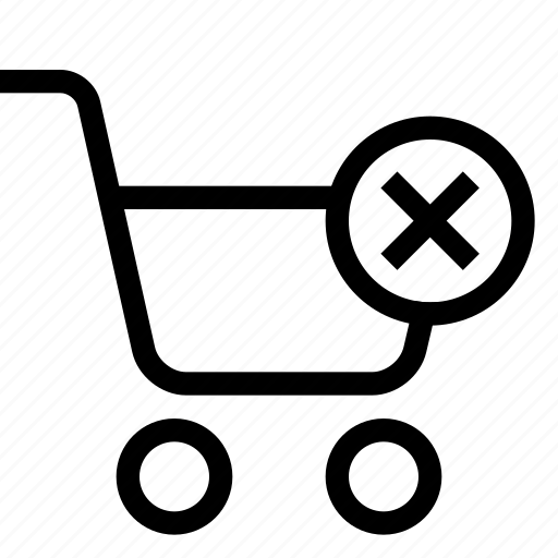 cart, remove, shopping, strolley, supermarket icon