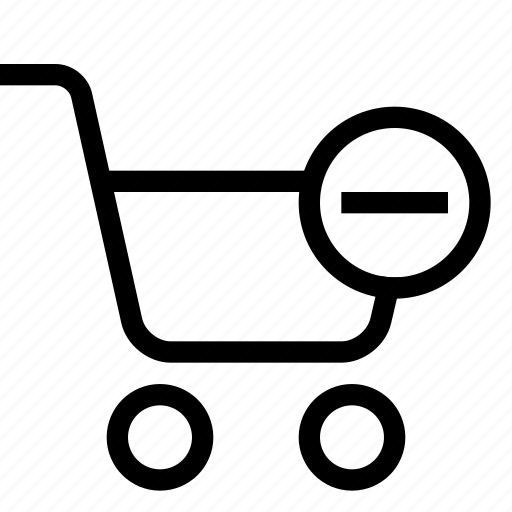 cart, delete, shopping, strolley, supermarket icon