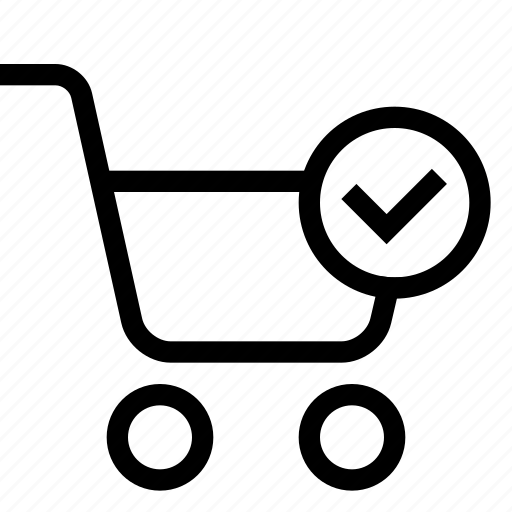 cart, check, shopping, strolley, supermarket icon