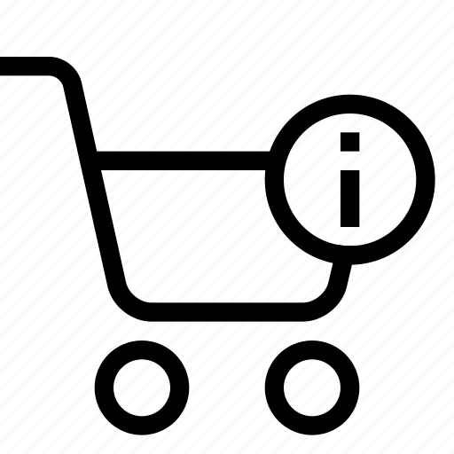 cart, info, shopping, strolley, supermarket icon
