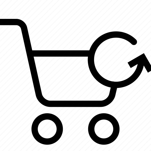 cart, refresh, shopping, strolley, supermarket icon