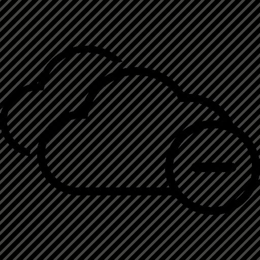 cloud, double, minimize, minus icon