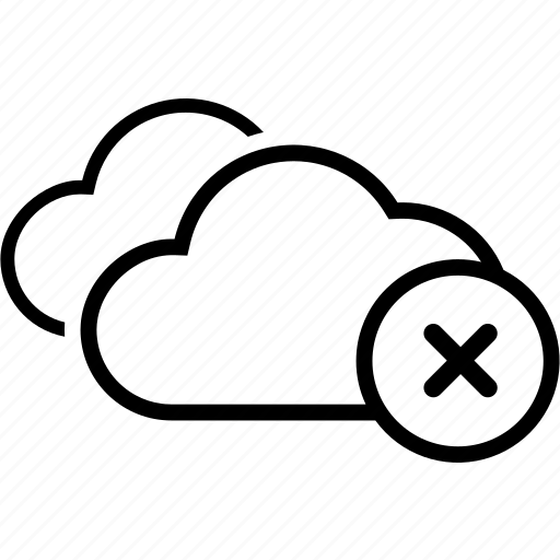 cloud, double, exit, remove icon