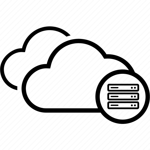 azure, cloud, computing, database, double, server icon