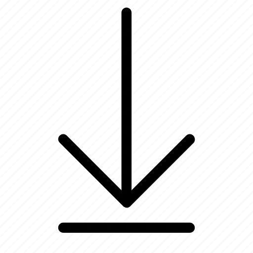 arrow, cloud, data, down, download, outline, technology icon
