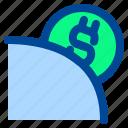 dollar, money, save icon