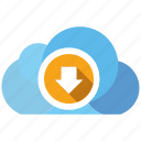 cloud, download, seo icons, seo pack, social media, web designer, yellow icon