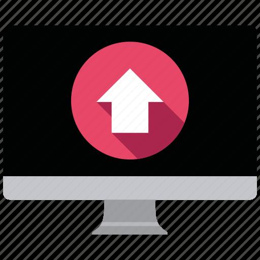 computer, seo icons, seo pack, seo services, social media, upload, web designer icon
