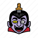 avatar, dracula, halloween, smile, sword icon