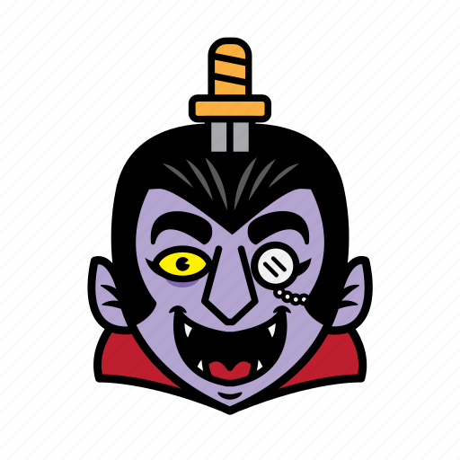avatar, dracula, halloween, smile, sword icon