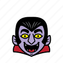 avatar, dracula, halloween, man, smile icon