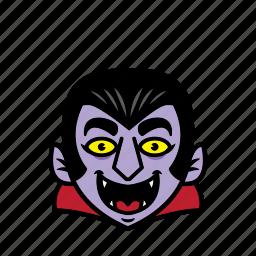 avatar, dracula, halloween, man, smile icon