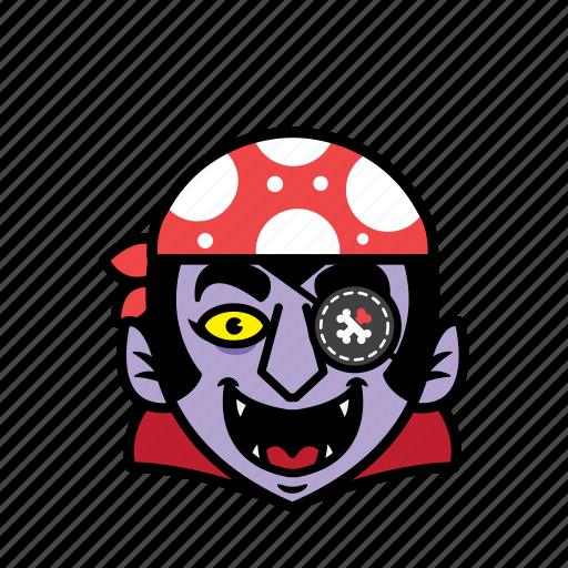 avatar, dracula, halloween, pirate, smile icon