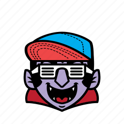 avatar, dracula, halloween, smile, snapback icon