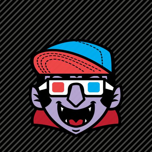 avatar, dracula, halloween, movie, smile icon