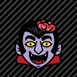 avatar, brain, dracula, halloween, smile icon