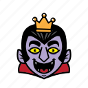 avatar, dracula, halloween, king, smile icon