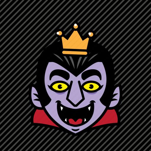 avatar, dracula, halloween, king, smile icon