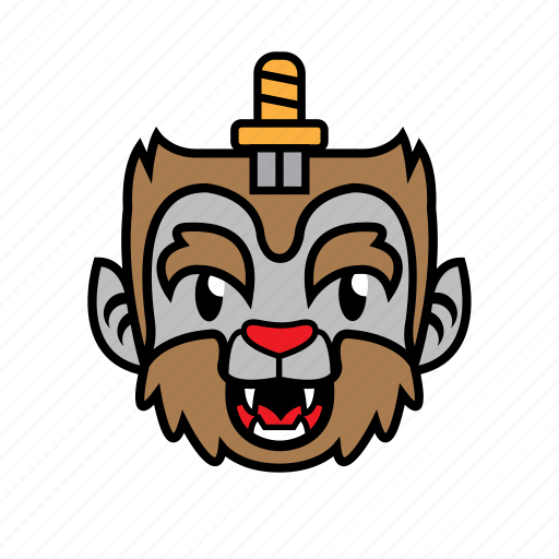 avatar, halloween, smile, sword, wolf icon
