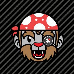 avatar, halloween, pirate, smile, wolf icon