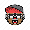 avatar, halloween, smile, snapback, wolf icon