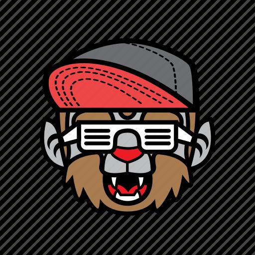 avatar, halloween, smile, snapback, wolf icon