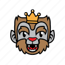 avatar, halloween, king, smile, wolf icon