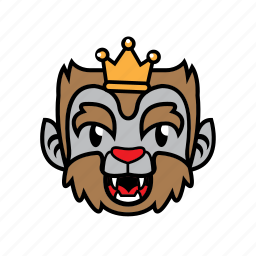 avatar, halloween, king, smile, wolf icon