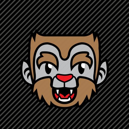 avatar, halloween, smile, wolf icon