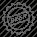 beer, bottle, cap