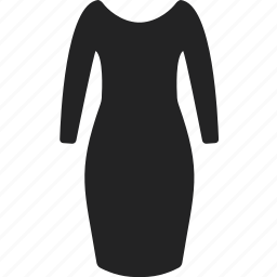 business, clothes, clothing, dress, long, shopping icon