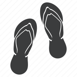 accessory, casual, flipflops, holiday, slippers, vacation, wear icon