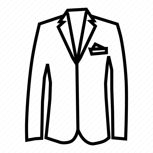blazer, clothing, coat, dress, fashion, style, suit icon