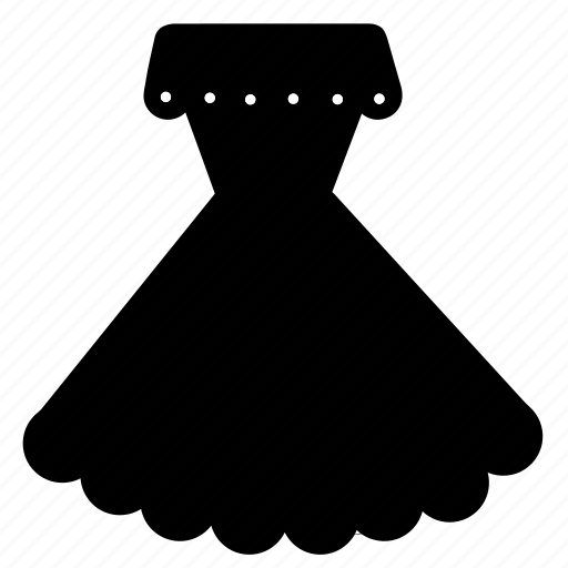 accessory, beauty, clothes, clothing, dress, fashion, scalloped dress icon