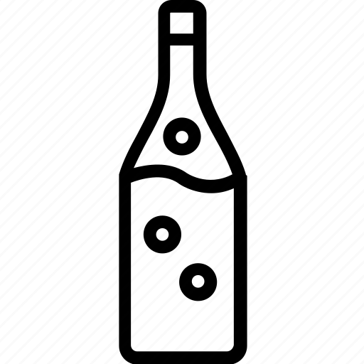 alcohol bottle, beer, champagne, liquor, whiskey icon
