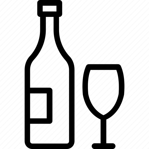 alcoholic beverage, beer bottle, booze, hooch, intoxicant icon