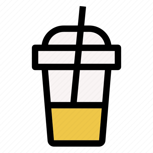 beverage, coffee, cup, drink, glass, ice icon