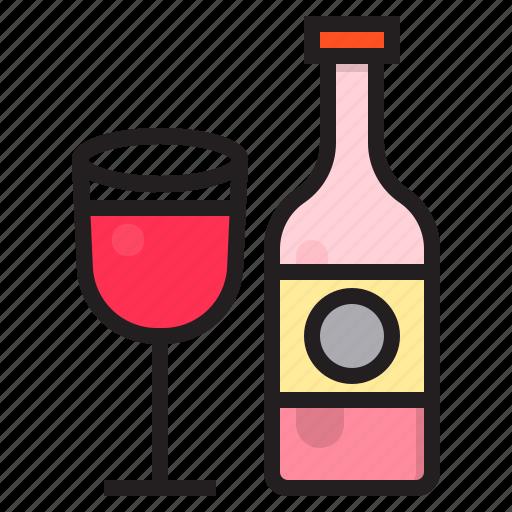 alcohol, bottle, drink, mug icon
