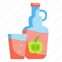 alcohol, beverage, cider, drink, fruit, glass, pub icon