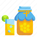 beverage, drink, fruit, glass, honey, juice, sweet icon